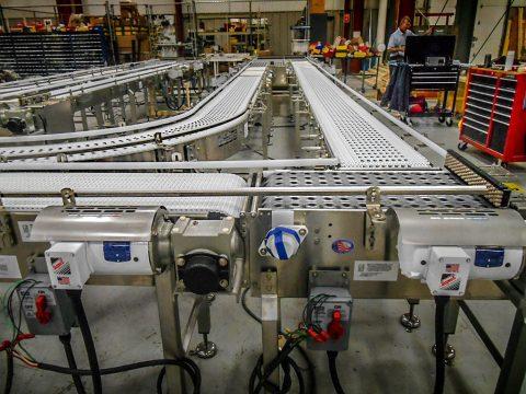 activated roller belt transfer conveyor