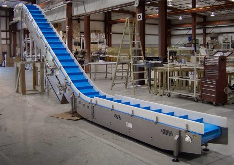 incline product belt conveyor